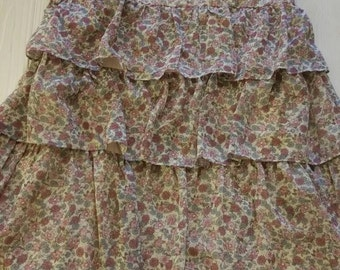 dress with little flowers KOCCA size L cotton summer dress