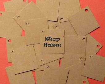 250 jewelry tags mini tags square tags custom kraft labels merchandise tags gift tags price tags clothing hang tags product tags supplies