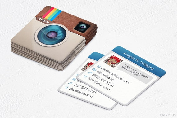 Mini Instagram Cards Business Cards Social by AxylusDesigns