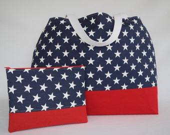 "EXTRA Large Tote, Beach Bag, Weekender, Matching Cosmetic Bag - ""Multi-Purpose"" Tote"