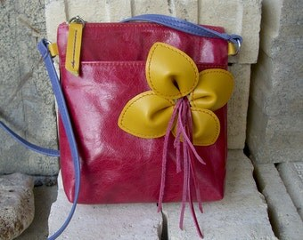 Leather small bag Small leather handbag Shoulder small bag Leather crossbody bag for girl