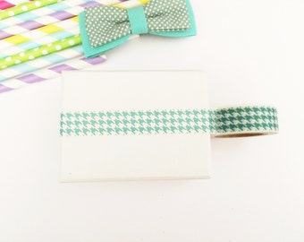 Colorful AQUA houndstooth washi tape, cute deco tape, paper tape, cute tape,houndstooth deco tape, packaging, wrap tape,pastel colours,mint