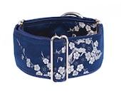 Blue martingale collar, martingale collar, greyhound collar, 2 inch,dogs collars,martingale collars,collars
