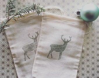 Rustic deer favor bag