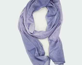 Soft purple chiffon scarf