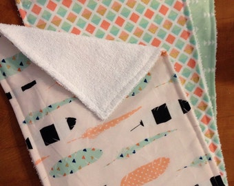 Terry cloth burp cloths