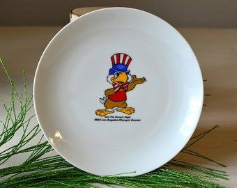 Vintage Olympic Eagle Plate Los Angeles 1984 Made in Japan