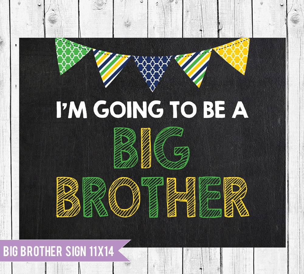 Big Brother Sign // Im Going To Be A Big Brother Chalkboard