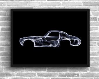 Mercedes 300 SL Art Wall Art Classic Car Man Cave Gift For Him Automotive Art Car Art Home Decor Mercedes Benz Décor Mercedes poster