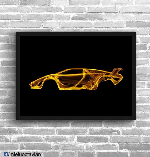 lamborghini countach lamborghini art wall art classic car man. Black Bedroom Furniture Sets. Home Design Ideas