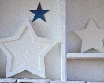 Star night light Wooden star Night light Kids decoration Star nursery Wooden night light Gift for kids room decor Star light Wooden decor