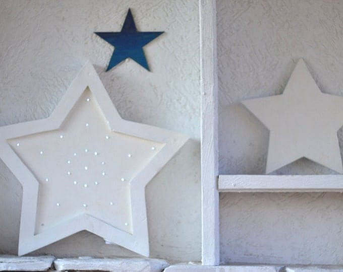 Star night light Wooden star Night light Kids decoration Star nursery Wooden night light Gift for kids room decor Star light Wooden decor