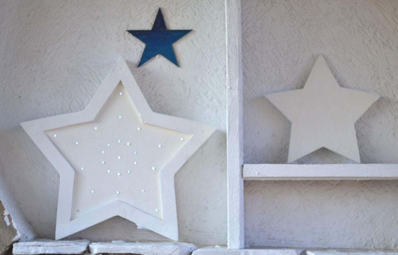 Wooden Star Wall Decor star night light wooden star night light kids decoration star