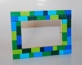 Lego® 4x6 Wooden Picture Frame- Green and Blue
