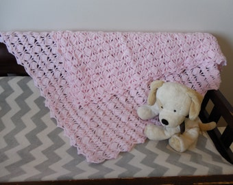 Crocheted baby afghan (blanket)