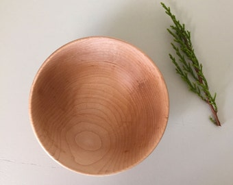 hand crafted wooden bowl from maple