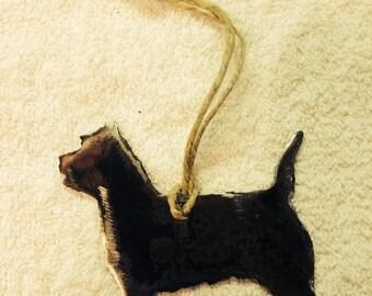 "Cairn Terrier  Ornament/metal ornament/Terrier/4""x4 1/2 apprx/"