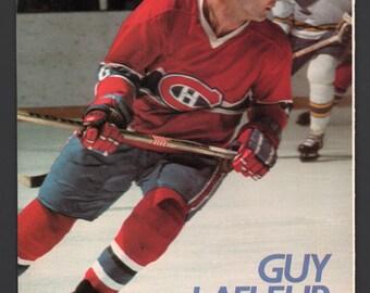 "Vintage Magazine Dbl Sided Mini Poster 17"" x 11"" - Montreal Canadiens Guy Lafleur - Bobby Clarke, Clark Gilles, Gilbert Perreault"