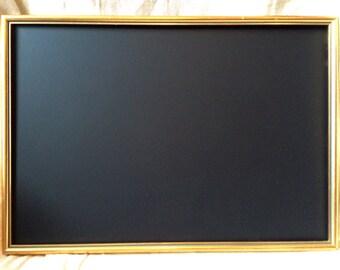 Vintage rustic gold framed chalkboard