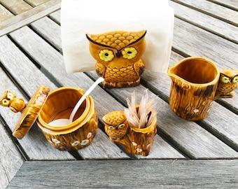 Owl Decor Owl Kitchen Decor Vintage Kitchen Decor Owl Kitchen Owl Gifts Vintage Owl Napkin Holder
