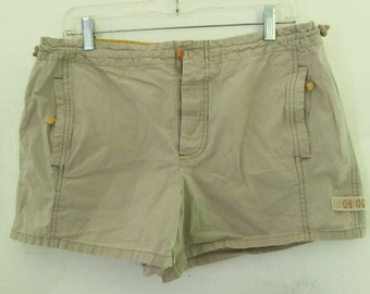 30% Off SaLE@@Women's Cute Vintage Tan Khaki UTILITY Style Short Short By AE.11/12