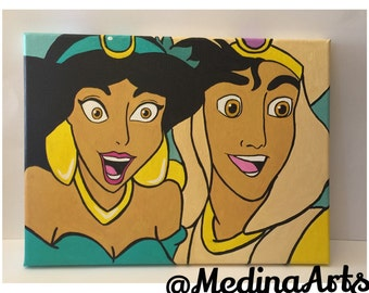 Magic Carpet Ride Painting- Aladdin