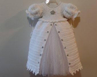 Crochet Christening Gown Princess Dress Pattern DIGITAL DOWNLOAD ONLY