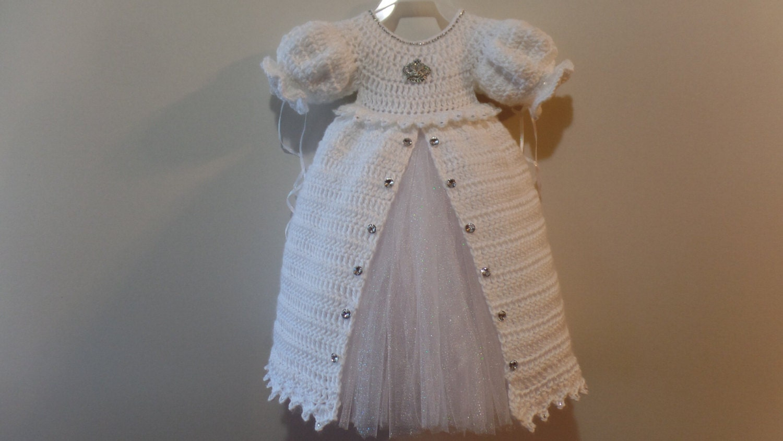 Crochet Christening Gown Princess Dress Pattern DIGITAL