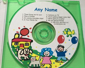 Children's personalized music on CD.