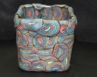 "Square Candle 3.5"" Black Spiral"