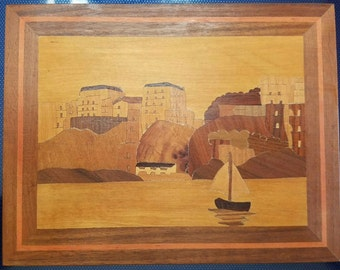 Vintage Marquetry Art - Inlay Wood