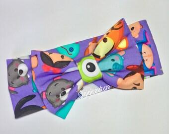 Purple Tsum Tsum bow headband