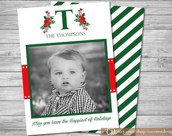 Christmas Photo Card / Holiday Photo Card / Back Side / Christmas Card / Holiday Card / Digital File