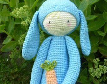 Blue Bunny with carrot