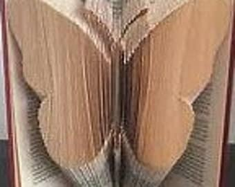 Butterfly Folded Book Art