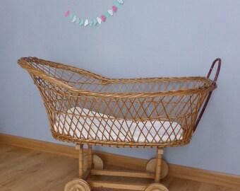Cradle baby rattan