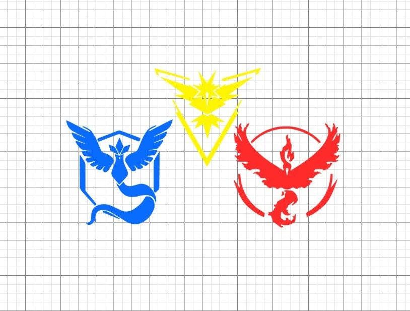 Pokemon Go Team Logos Permanent Vinyl Decals By