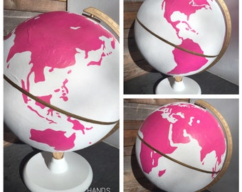 Punchy Pink and White Globe
