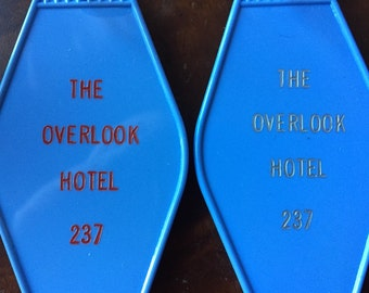 The Shining inspired OVERLOOK HOTEL Room 237 KEYCHAIN, key fob horror