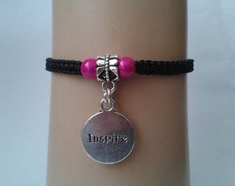Believe bracelet - inspire bracelet - inspire jewelry - adjustable bracelet - macrame bracelet - inspirational bracelet