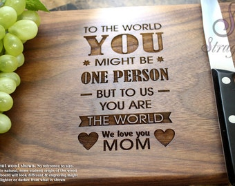 Personalized Engraved Cutting Board- Gift for Mom, Grandma, Anniversary Gift, Housewarming Gift, Birthday Gift, Promotion. 109