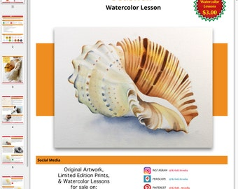 Seashell - Digital Watercolor Lesson