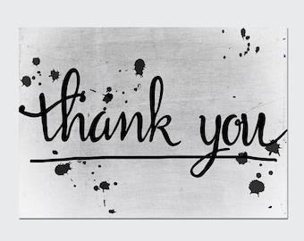 Postcard 'Thank you'