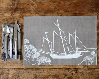 Linen Placemats Set of Two from The Coastal Collection