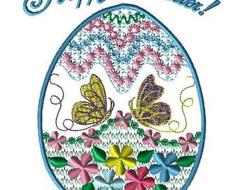 Easter Egg embroidery design/ Machine embroidery design