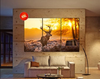 stag  canvas wall art stag wall decoration stag canvas wall art art stag large canvas wall art  wall decor