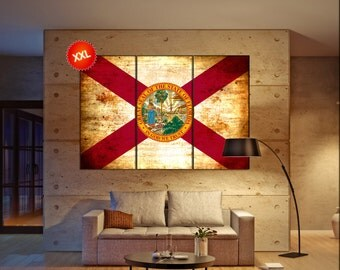 florida state flag  canvas florida state flag  wall decoration florida state flag canvas art florida state flag  large canvas