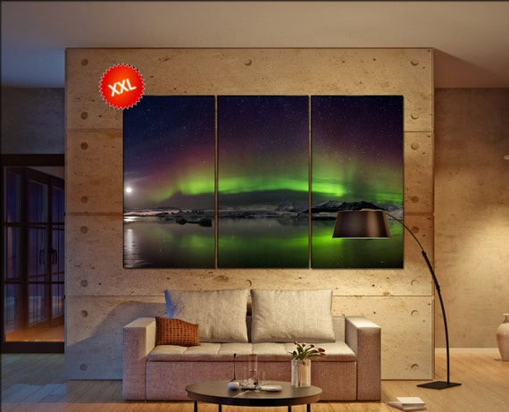 Northern lights  canvas Northern lights wall decoration Northern lights canvas art Northern lights large canvas  wall decor