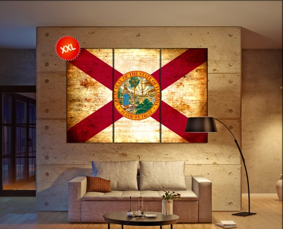 florida state flag  canvas florida state flag  wall decoration florida state flag canvas art florida state flag  large canvas