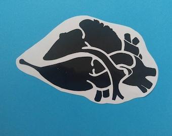 Heart vinyl sticker